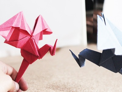 Dragon sencillo de papel. origami Facil