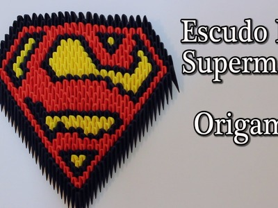 Escudo De Superman Origami 3D TUTORIAL!