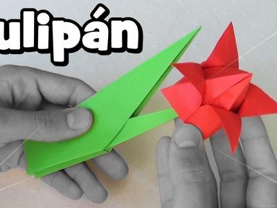 Flor de Papel - Tulipán Origami