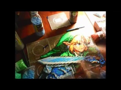 Link from the legend of zelda made whit beads - perler time lapse