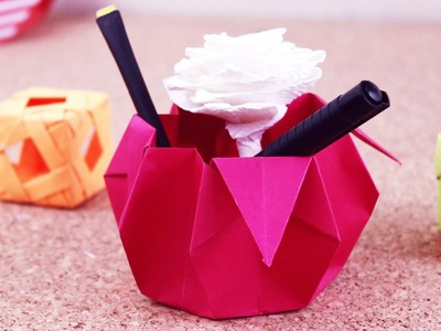 Origami Canastita Dulcera. Jeguridos kids