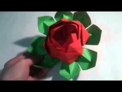 Origami  Flor de loto     [Origami - Papiroflexia]