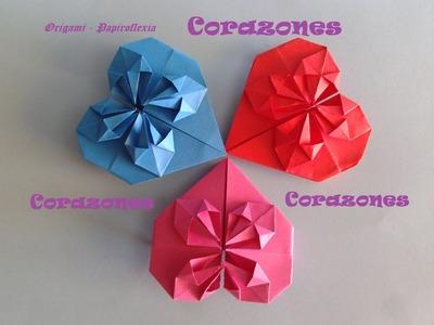 Origami - Papiroflexia. Corazón para decorar o regalar San Valentín o Día de la Madre