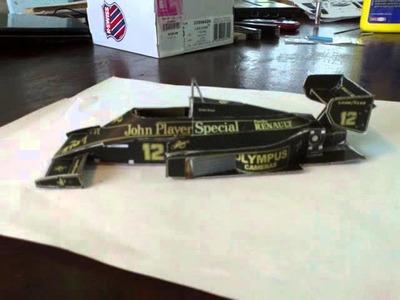 Papercraft F1 Lotus 1985 Senna