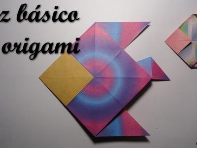 Pez básico de origami