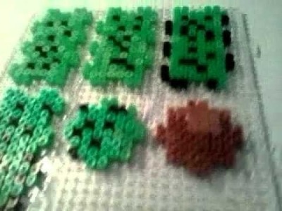 Plantillas cactus 3D hama beads diseñó original