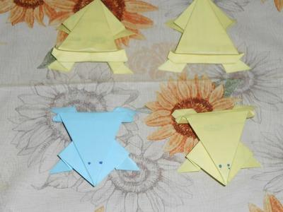 Rana de papel origami facil de hacer solo viendo