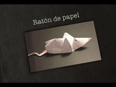 Raton de papel - origami