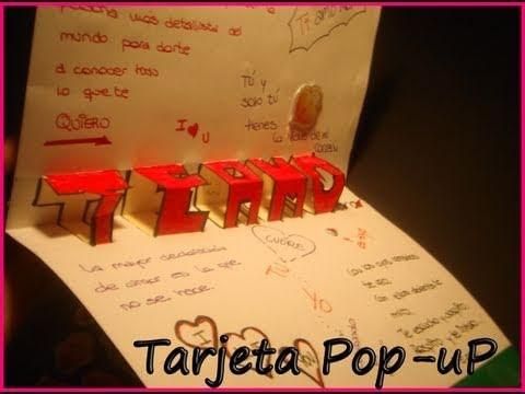 """Tarjeta Pop Up """"Te Amo""""   Manualidades para San Valentin"""