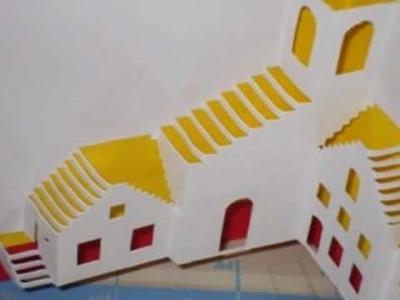 Tarjetas pop up y origami arquitectonico no.6