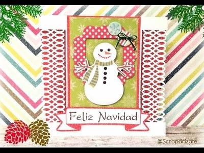 XMAS SERIES: Snowman Card - Tarjeta Muñeco de Nieve