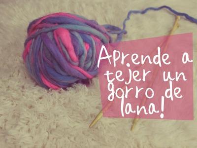 Aprende a tejer un gorro de lana!  DIY. Learn how to weave a woolen cap!DIY