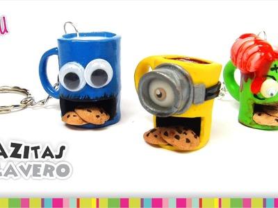 Cool coffee mugs keychains(Polymer Clay). Padrísimos llaveros en forma de taza(Arcilla Polimérica)