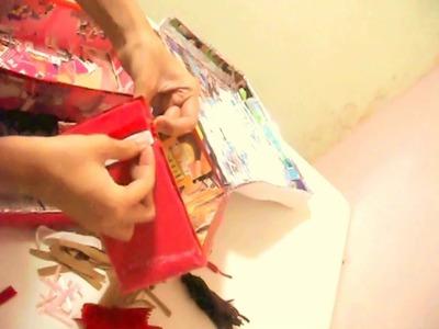 """""""costurero organizador"""" con material reciclado (sewing box)"""
