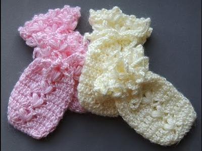 Crochet : Guantes o Manoplas para Bebes (0 a 3 meses)