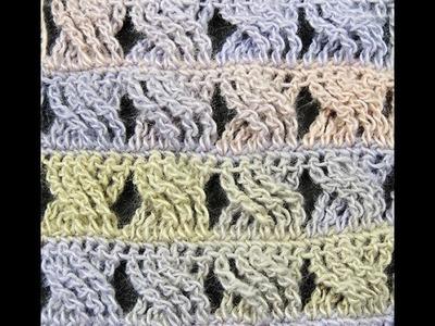 Crochet : Punto Entrecruzado # 3