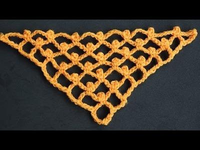"""Crochet : Variacion Punto Red en """"V"""""""