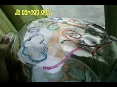 (DIY) Decorando la Pecera.decorated fish bowl . how to