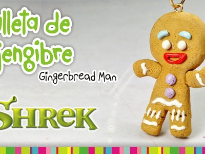 Gingerbread Man Cookie polymer clay tutorial. Galleta de gengibre de arcilla polimérica