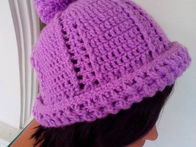 Gorro de Lana tejido a Crochet Unisex