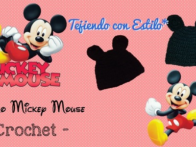 Gorro Mickey Mouse - crochet