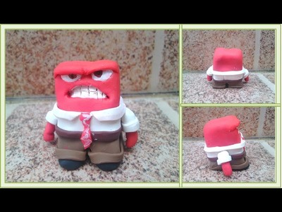 Inside out - Anger.Intensamente-Furia.Arcilla polimerica.Polymer clay