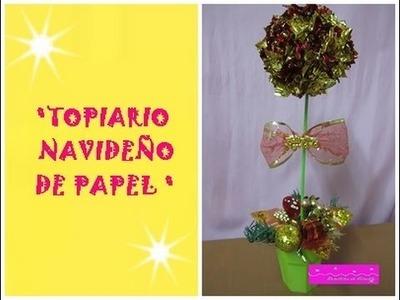 MANUALIDADES:Adorno Navideño:Arbolito decorativo de papel