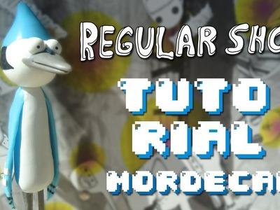 MORDECAI Regular Show Polymer Clay TUTORIAL. Un Show Más Porcelana Fría