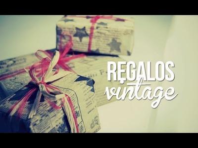 Papel de regalo tipo vintage, facilísimo!