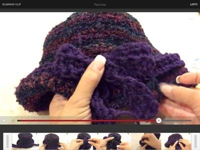Sombrero tejido de Alborada - Complemento de la Palestina de Alborada - Tejiendo con Laura Cepeda