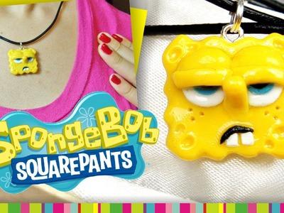 Sponge Bob necklace Polymer clay . Bob Esponja de arcilla polimérica