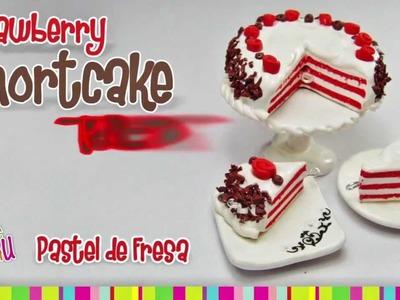 Strawberry Shortcake polymer clay tutorial. PASTEL DE FRESA DE ARCILLA POLIMÉRICA