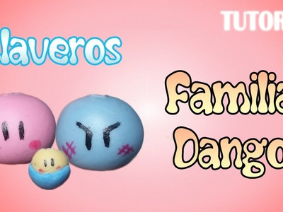 Tutorial Llaveros Familia Dango en Porcelana Fria | Dango family Charm Polymer Clay Tutorial