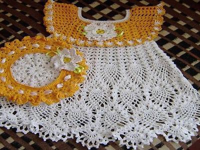 Vestidos de BEBE Tejidos en Crochet o Ganchillo Parte 3 ( imagenex )
