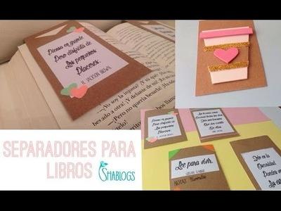 Como hacer separadores para libros I DIY