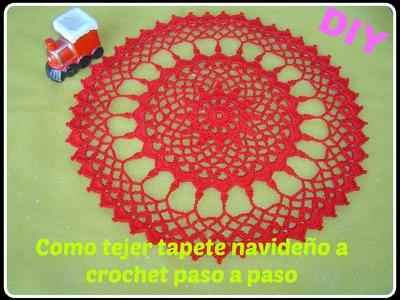 Como hacer  tapete, carpeta  a crochet parte 2.2 DIY