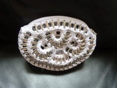 Como hacer un monedero con anillas de lata DIY MONEDERO CORAZON PARTE 2