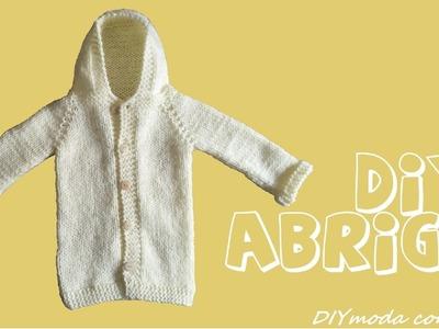 Cómo tejer abrigo de lana a dos agujas para niño 1 de 2 partes