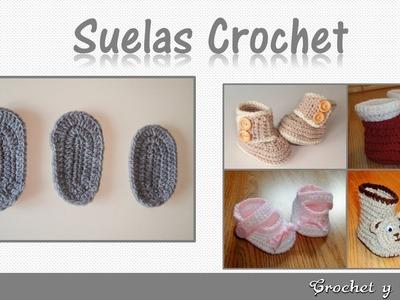 Consejos y patrones para tejer zapatos a crochet  - Plantillas para todas las tallas de bebés
