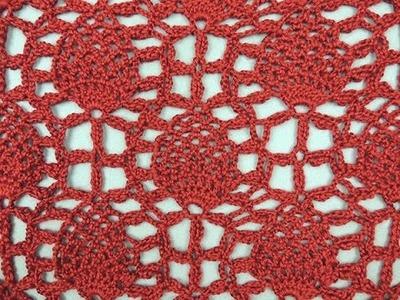 Crochet : Motivos de Piñas Continuas