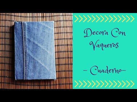 DECORAR CON VAQUEROS - CUADERNO- DIY