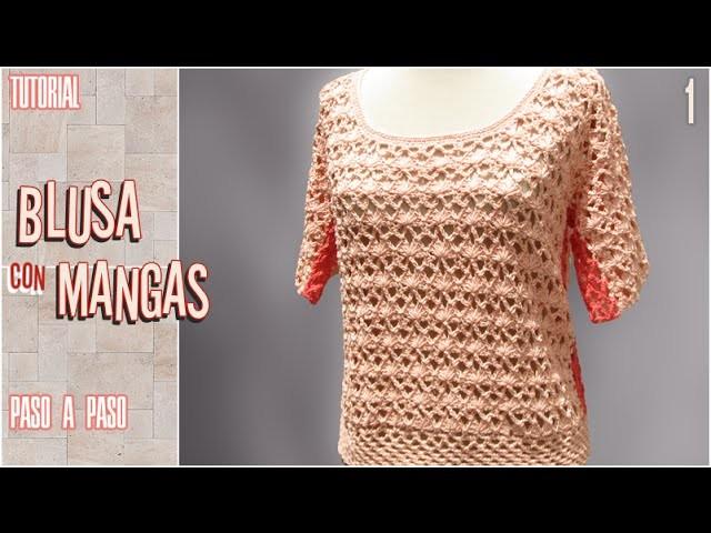 DIY Blusa con mangas a crochet, paso a paso (1 de 2)