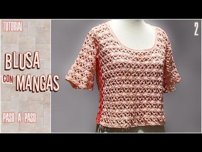 DIY Blusa con mangas a crochet, paso a paso (2 de 2)