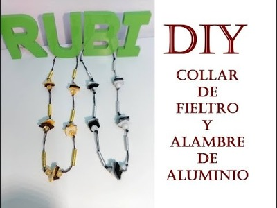 Diy. Collar largo con fieltro y alambre