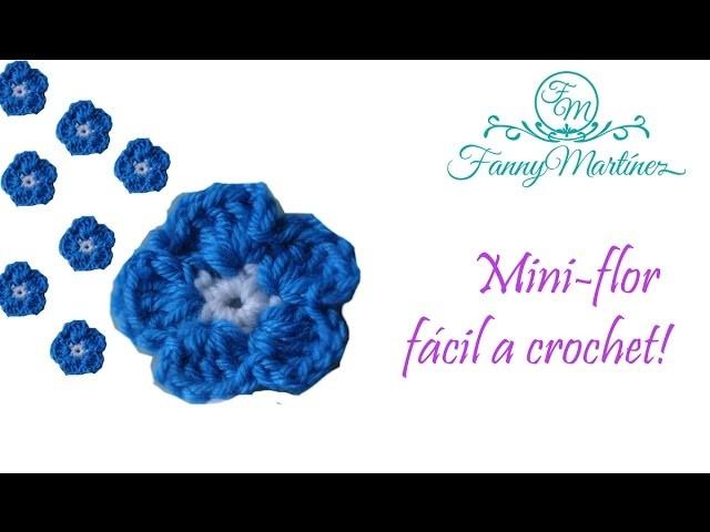 DIY- Como hacer una flor fácil a crochet dos colores!!!