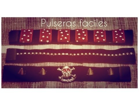 DIY Pulseras con cintas. Pulseras faciles