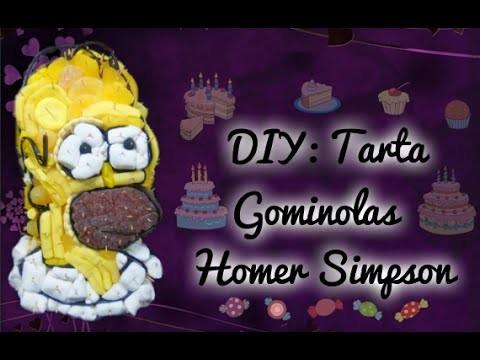 DIY: TARTA GOMINOLAS HOMER SIMPSON || HOMER SIMPSON CANDY CAKE ஐ26ஐ