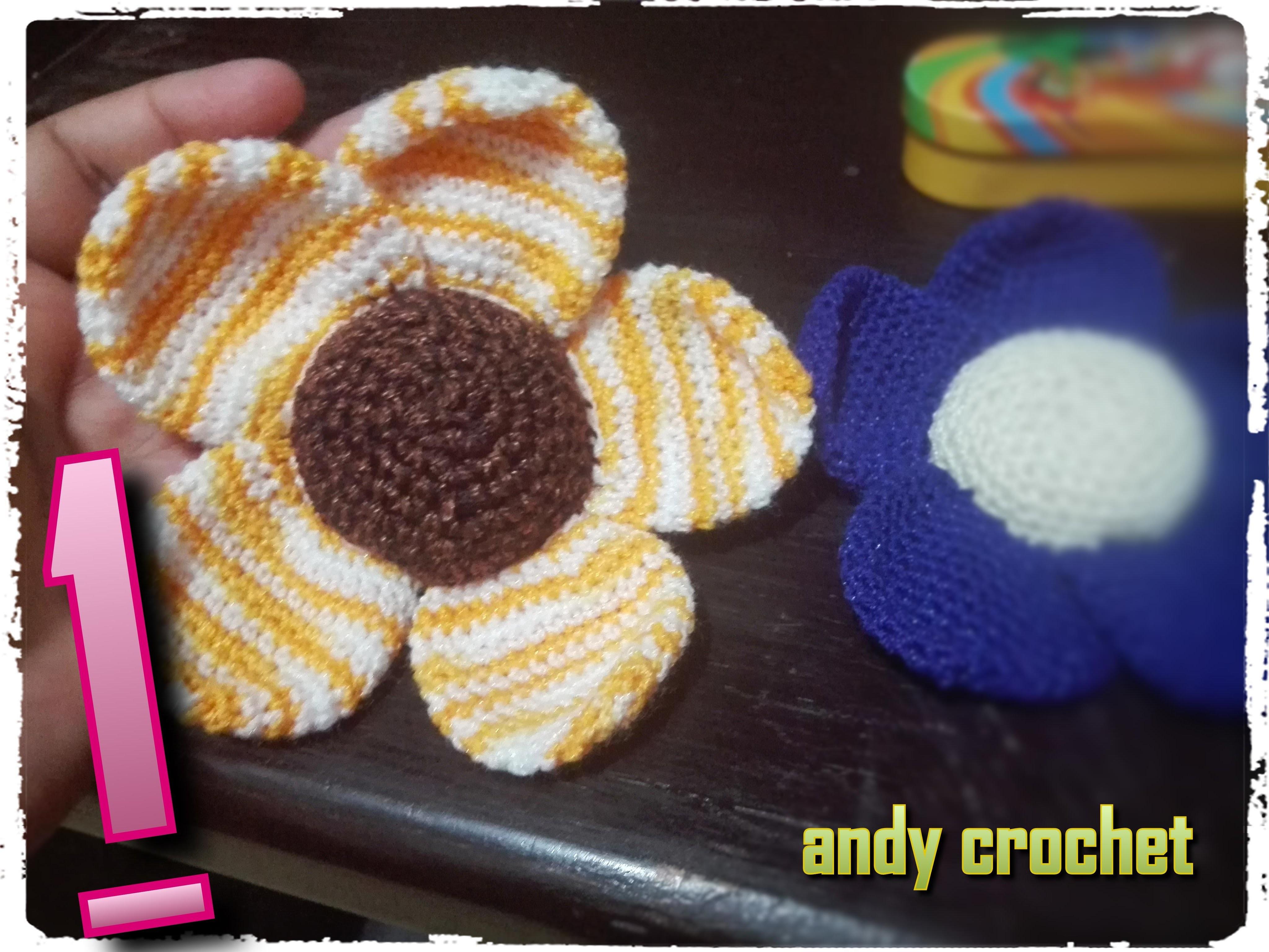 Flor amigurumi ( crochet facil ) parte 1