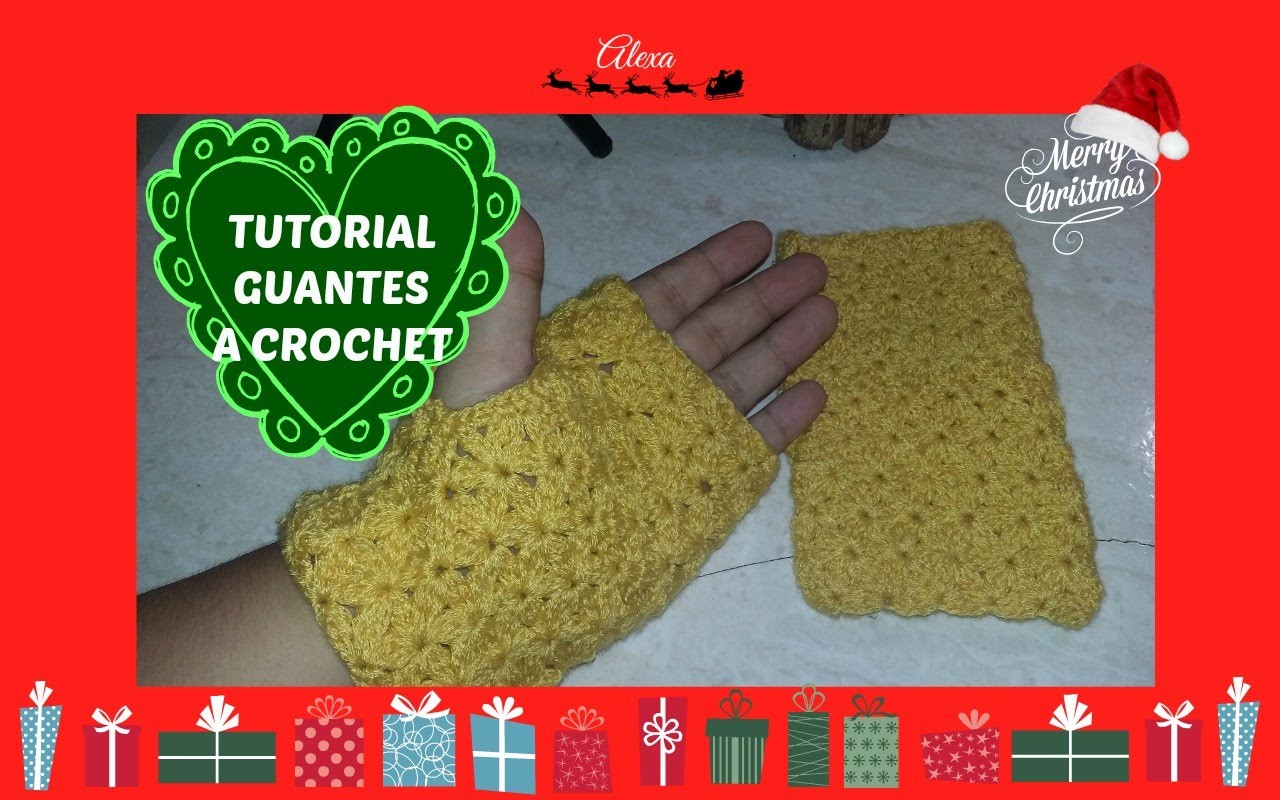 GUANTES A CROCHET. FINGERLESS GLOVES