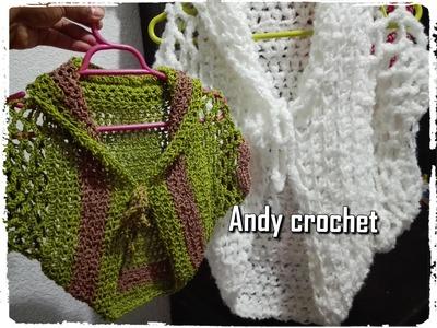 Saco en todas las tallas  Andy crochet